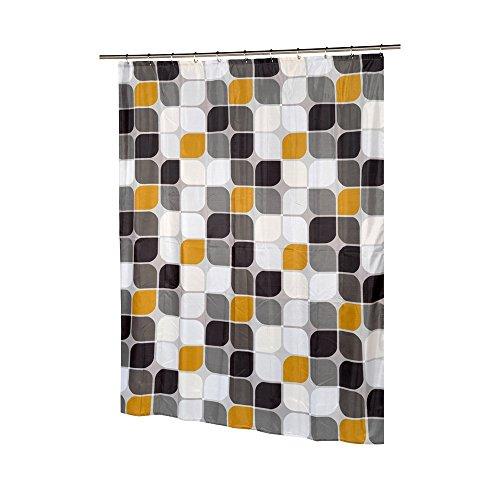 Carnation Home Fashions Metro Extra Lang bedruckter Stoff Vorhang für die Dusche, 178cm von 84Zoll