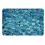 Tappetino da Bagno 3D Terra di diatomea, Asciugatura Rapida Antiscivolo Tappetino da Bagno Antibatterico per Bagno Doccia Piano 79 * 39 cm (Color : A)