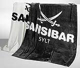 Sansibar Heimdecke/Kuscheldecke Logo Säbel