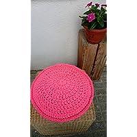 Cojín en crochet con trapillo modelo PINKI