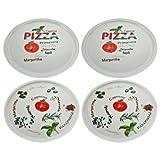 Retsch Arzberg Pizzateller 'Pomodoro & Spezia' Ø 30cm, Porzellan, weiß, 4-teilig (1 Set)