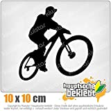 Mountainbiker MTB Downhill 10 x 10 cm IN 15 FARBEN - Neon + Chrom! Sticker Aufkleber