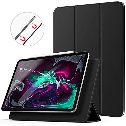 Ztotop Hülle für iPad pro 11 2018,Ultra dünn smart magnetische Abdeckung,Trifold Stand Schutzhülle mit Auto Aufwachen/Schlaf für iPad Pro 11 Zoll A1980 A2013 A1934 A1979,Schwarz - Kleine Tri-fold