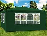 Deuba Festzelt Maui 3x4m | 12 m² Pavillon Seitenwände wasserabweisend UV-Schutz 50+ | Partyzelt Gartenpavillon Gartenzelt Grün