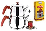 Best Tea Makers - Turkish Caydanlik Teapot Tea Maker Stainless Steel Large Review