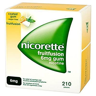 Nicorette FRUITFUSION GUM 6 mg 210 Pieces Nicotine for Smoking Cessation from nicorette