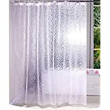 Kuber Industries PVC .20 MM Shower Curtain - 7ft, Transparent