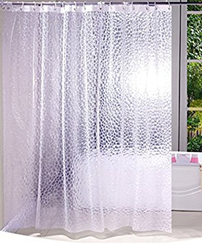 Kuber Industries PVC .20 MM Shower Curtain – 7ft, Transparent