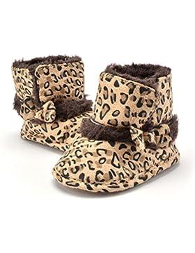 L-Peach Botitas de Nieve Cálidas de Invierno Leopardo para Recién Nacido Bebé Primeros Pasos 0 a 18 Meses