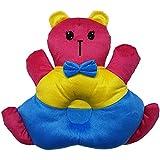 MOM'S GADGETS Plush Teddy Shape Baby Sleeping Pillow Baby Play Pillow Baby Soft Toy Pillow With Baby Head Positioning Pillow Adjustment Made Of Velvet