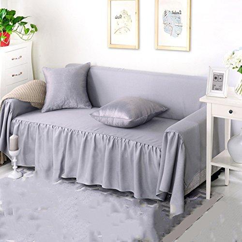 Yq whjb reversibile copridivano tinta unita,copridivano,del pacchetto mobili protector per 1 2 3 4 cuscini divano copertura dell'animale domestico-grigio 200x200cm(79x79inch)