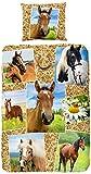 Good Morning! Kinder-Bettwäsche, Pferde, Mehrfarbig, Einzelbettgröße