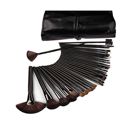 XUAN Maquillage professionnel de 32 PCs pinceau outils beauté noire