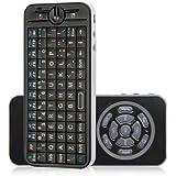 (IMPORTADO DE REINO UNIDO) teclado con control remoto 4 en 1 de 2,4 GHz Mini Wifi Fly Air Mouse - Handheld Wifi Teclado ratón por Koolertron iPazzPort