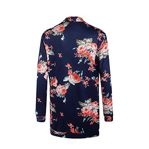 SG Blumendrucke Jacke Outwear Strickjacke Blau