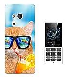 003526 - Cool Summer Cat Design Microsoft Nokia 216 Fashion