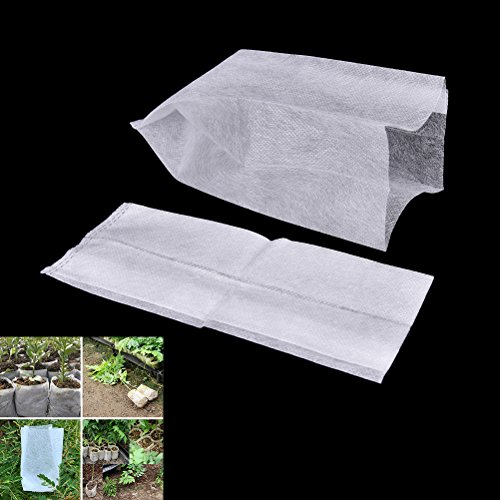 Pinkdose® 8X10Cm: 100 Pcs Full All Size Biodegradable Plant-Fiber Nursery Pots Seedling-Raising Bags Environmental Protection Non-Woven Grow Bag