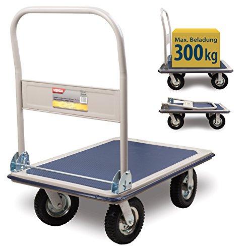 Plattformwagen 300 kg luftbereift Transportwagen Handwagen Transportkarre SN300B