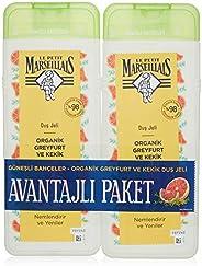 Le Petit Marseillais Organik Greyfurt ve Kekik 400 mlx2 Duş Jeli 1 Paket (1 x 800 ml)