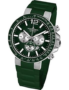 Jacques Lemans Unisex-Armbanduhr Milano Chronograph Silikon 1-1696E
