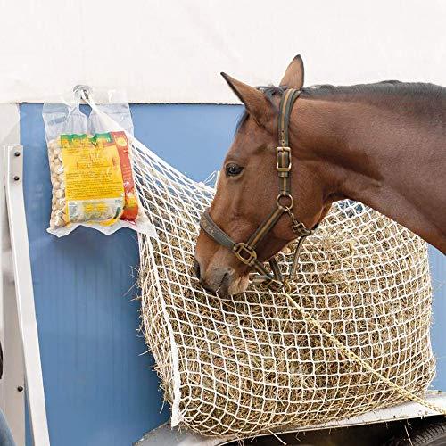 SUMSEA Heunetz für Pferde, verbessert Verdauung der Tiere Heu Gras Futter Stroh Futternetz Heusack, Heunetz 120x90cm Maschen 3x3cm