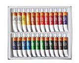 Mbgi-wap Tempera Basics, guache Colour Set, 24 Tubes de 12 ML, Couleurs Brillantes