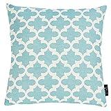done Couchkissen Windsor Milano mit Motivdruck - Sofa Kissen incl. Füllkissen - Reißverschluss - 4 Farben - Größe 45x45 cm, Farbe:Milano Mint