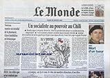 Telecharger Livres MONDE LE No 17100 du 18 01 2000 UN SOCIALISTE AU POUVOIR AU CHILI RICARDO LAGOS J LAVIN SERBIE MORT D UN TUEUR ZELJKO RAZNATOVIC LE MARTYRE SILENCIEUX D UN ELEVE A LONGUY HLM LES VILLES QUI N EN VEULENT PAS GLAXO SMITH KLINE (PDF,EPUB,MOBI) gratuits en Francaise