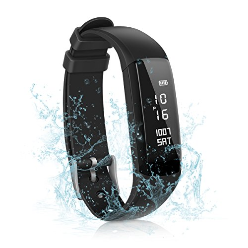 Pulsera Deportiva, CAMTOA 0.87'' OLED Fitness Tracker, IP67 Impermeable Pulsera de Fitness, Activity Tracker, Pulsera Inteligente, Monitorización Del Sueño, Podómetro, Calorías, Distancia, Búsqueda de Teléfono, Reloj Despertador, Alerta Sedentaria, Notifi