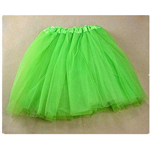 DAY.LIN Petticoat Kleid Rock Damen Rockabilly Kleid 1 STÜCK Hübsches Mädchen Elastisches Stretchy Tüll Kleid Erwachsenen Tutu 3 Schicht Rock (Grün)