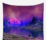 HAHADONG Stuoia di Yoga Arazzo Stellato di Notte della Stuoia di Meditazione Porpora Lanterna del Panno del Fondo Cosmico