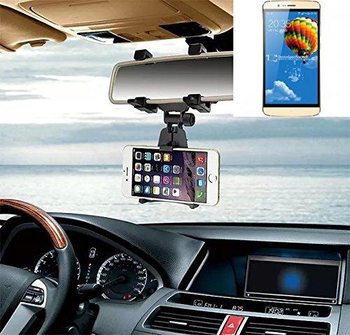 Supporto Smartphone specchietto retrovisore per Elephone P8000, nero | Specchio Holder staffa auto - K-S-Trade (TM) - Guida All'acquisto Holder