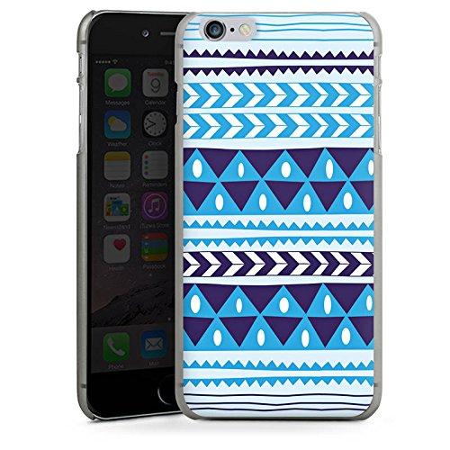 Apple iPhone X Silikon Hülle Case Schutzhülle Dreiecke Blau Muster Hard Case anthrazit-klar