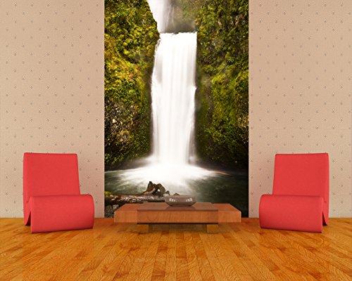 selbstklebende Fototapete - Multnomah Falls in Oregon - USA - 100x150 cm- Tapete mit Kleber – Wandtapete – Poster – Dekoration – Wandbild – Wandposter – Wand – Fotofolie – Bild – Wandbilder - Wanddeko