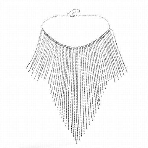 LZY Übertrieben Frauen 's voller Diamanten Flut Show Kleid Schmuck Bikini Flash gebohrt gebunden Kette geeignet für Strandurlaub am Meer,Splitter,Taille