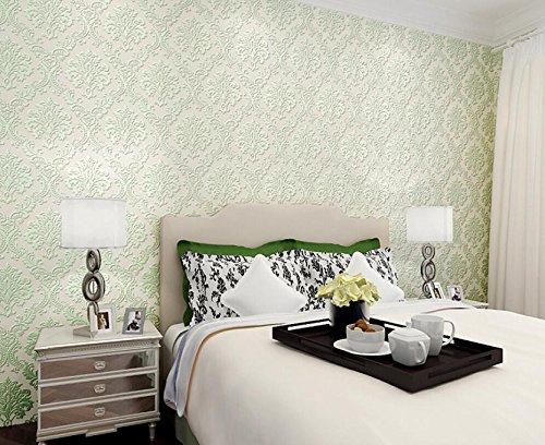 BBSLT European classic wallpaper 3D di stoffe non tessute in rilievo sullo sfondo di Damasco camera da letto soggiorno parete-paper , 5 , 53 * 1000cm - Stati Uniti Schiuma Mappa