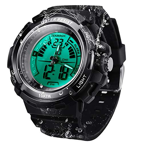 100m Agua Resistente Deporte Reloj de Buzo Submarino Cronómetro Sumergible con Función de Alarma...