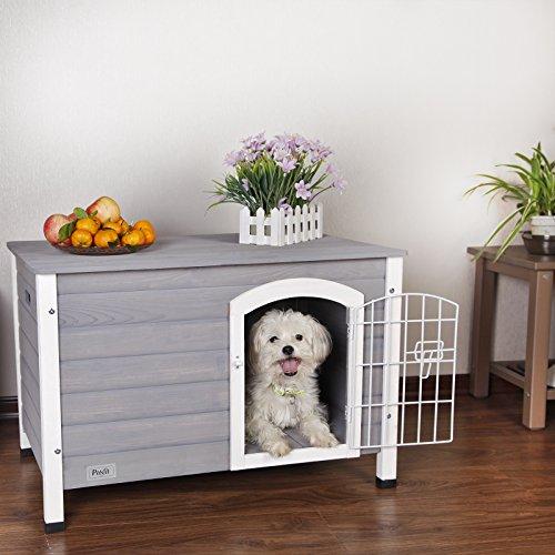 Petsfit casa perro interior puerta hierro, refugio