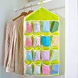Almand Fabric Multifunction Clear 16 Pockets Sorting Bag Door Wall Hanging Closet Multi-coloured Storage Organizer
