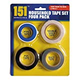 Household Tape Set- Four tapes for use around the home! 1 X PTFE Tape (13 metres X 13mm) 1 X Double sided Tape (19mm X 8 metres) 1 X PVC (18mm X 13 metres) 1 X Duct (19mm X 13 metres)