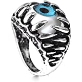 HSQYJ Evil Eye Gothic Dragon Claw Ring Vintage Hell Demon Gem Stone Biker Punk Ring Aniversary Religious Good Luck Protection