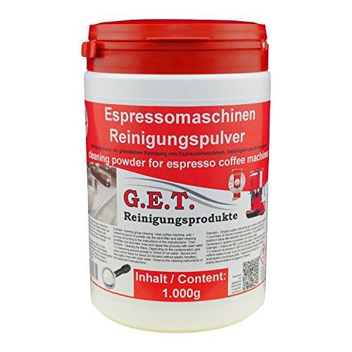 GET Spezial Reinigungspulver für Kaffeemaschinen und Siebträger 1000g