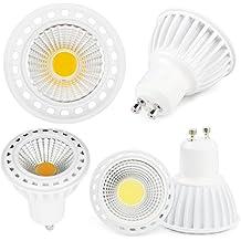 Foco COB LED Spotlight GU10de 7W = 70W de una lámpara incandescente 600lúmenes haz luz disponible a 120°, luz blanco frío 6500K, blanco natural 4500K y blanco cálido 3500K, LED de larga duración y última generación, ultra luminoso y eficiente