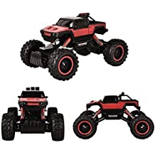 HUKOER Rock Crawler RC Car Auto Telecomandata Strisciante-1/4 Rock Master Rock Crawler con 2.4Ghz Controllore (Rosso)