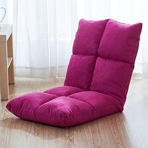 Paddia Tatami Faltbare Lazy Couch Kleines Sofa-Stuhl Einzelne Klappbett-Fensterkissen Reclining Meditation Rückenlehne Gepolsterte...