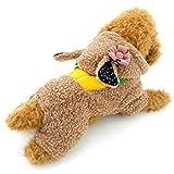 Selmai épais Carotte Lapin Capuche Pyjama Manteau d'hiver pour femme en polaire, pour petit chien chat chiot Animal domestique (Ce Style Plus Petit, veuillez choisir une Taille plus grande)