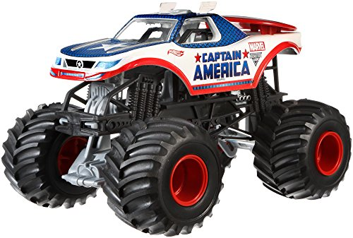 Hot Wheels Monster Jam 1:24 Die-Cast Captain America Vehicle by Hot Wheels