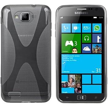 mumbi X-TPU Schutzhülle für Samsung ATIV S Hülle transparent schwarz