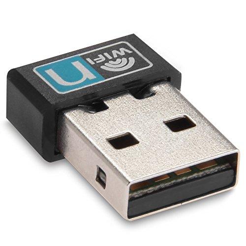 SODIAL(R) Mini 150Mbps USB WiFi Wireless LAN 802.11 n/g/b Netzwerk Adapter Karte Schwarz (G B Netzwerk)
