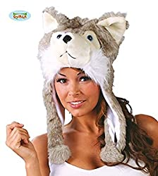 Novelty Grey White Husky Dog Hat from Guirca